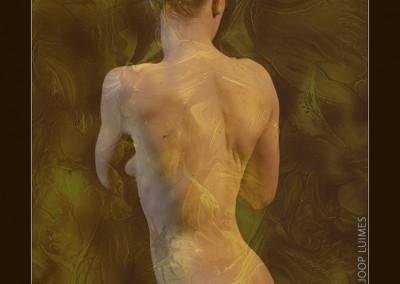 Joop Luimes vrouwelijk naakt met textuur_5276