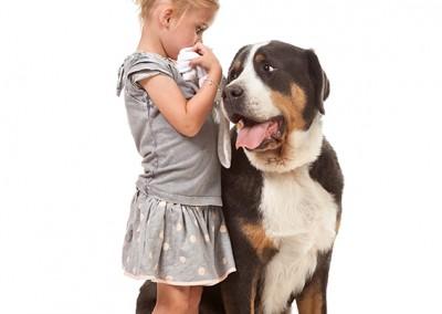 Joop Luimes meisje met hond_5463