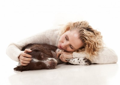 Joop Luimes vrouw met hond_1614
