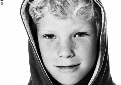 Joop Luimes zwartwit portret jongen_1703